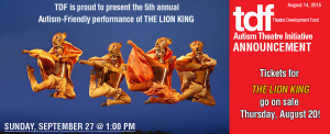 Autism friendly performance of the Lion King